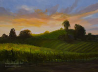 A Taste of Sonoma California Vineyard Wine Country Sonoma Oil Painting