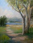 Walk by the Bay Morro Bay oil painting