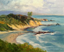 Afternoon, Little Corona del Mar oil painting