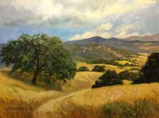 All the Golden Places - California Rolling Hills Oil Painting