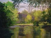 Colorado Street Bridge Arroyo Seco Oil Painting