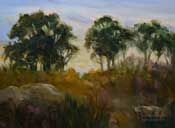 Back Bay eucalyptus oil painting