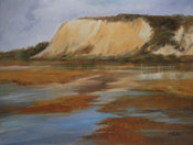 Back Bay Afternoon Estuary Newport Beach Back Bay Oil Painting by Karen Winters