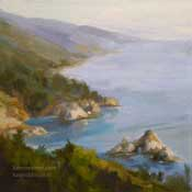 Big Sur Vista overlook seascape oil painting