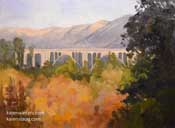 Bridging the Arroyo oil painting
