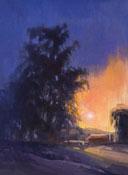 Cambria sunset eucalyptus trees barn