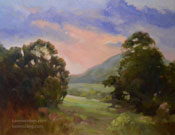 Cambria Twilight Shadows oil painting