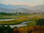 Carpinteria Estero State Beach Salt Marsh oil painting .