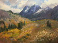 Carson Peak June Lake Loop oil painting plein air