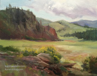 Colorado Cloudy Day Gunnison rocky mountain oil painting