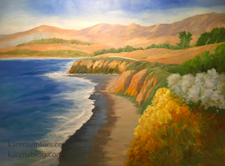 Colors of Cambria commissioned Moonstone Beach seascape