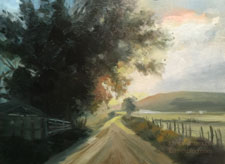 Cottonwood Road Utah sunset oil painting
