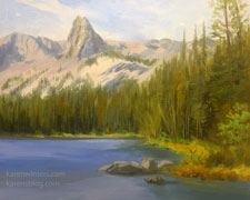 Crystal Crag, Mammoth Lakes, California impressionist oil painting Karen Winters