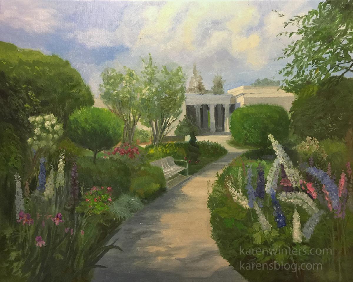 Delphinium Dance Huntington Botanical Gardens Painting Karen