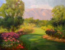 Descanso Rose Garden Pathway oil painting