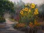 Descanso Gardens Art Gallery Sunflower Garden Oil Painting