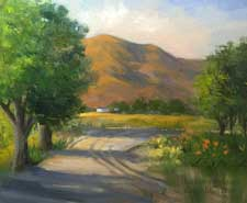 Ditch lilies, Fallbrook California ranch impressionist oil painting art