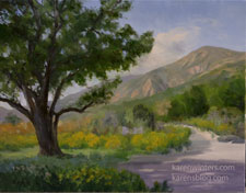 Eaton Canyon Oak Tree Painting