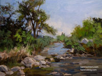 Eaton Canyon Stream 9 x 12 oil painting
