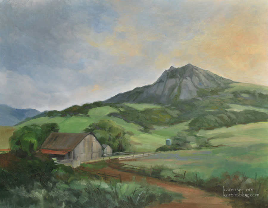 Bishop Peak Oil Painting, San Luis Obispo, Central Coast California Art   - Bishop Peak Oil Painting, San Luis Obispo, Central Coast California