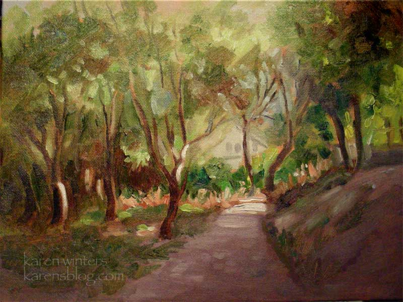 Flint Canyon Trail  (La Canada Flintridge) 9 x 12 oil