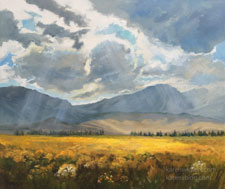 For the Glory of the Skies Eastern Sierra June Lake Loop oil painting
