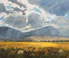 For the Glory of the Skies Eastern Sierra June Lake Loop oil painting