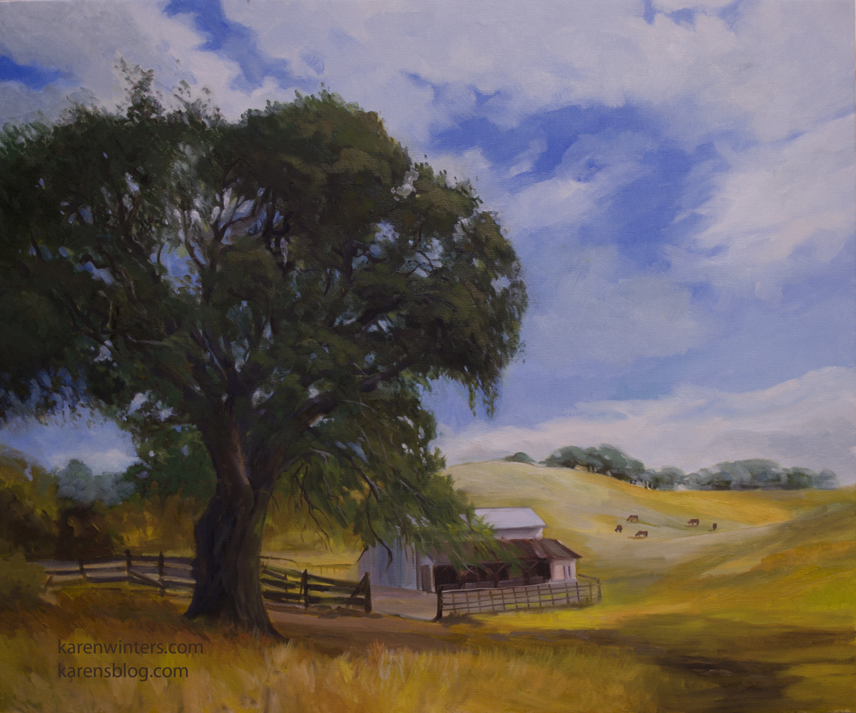 Oak Tree Paintings Oak Oil Paintings Pastels And