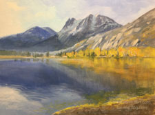 Golden Autumn at Silver Lake - Sierra oil painting