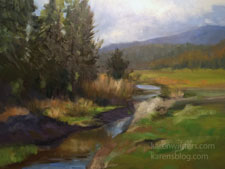 Goodrich Creek near Susanville oil painting 9 x 12