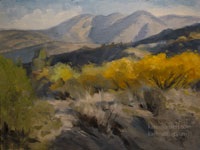 High Desert Color - Valyermo - California landscape oil painting cottonwoods fall color