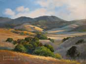 Hills of Gold - California Rolling Hills Oak Landscape oil painting by California Art club Artist Karen Winters