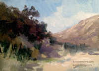 In the Canyon - Eaton Canyon miniature oil painting