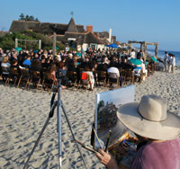 Karen Winters paints St. Malo Wedding - Live Event California painter