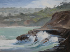 La Jolla Splash california seascape oil painting for sale