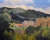 Ranch on Malibu Canyon Road oil painting 8 x 10 sold