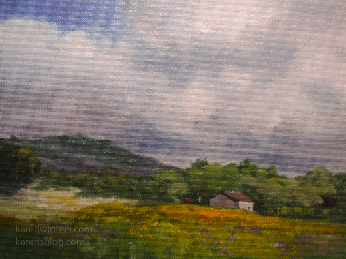 Mariposa Meadow – Sierra foothills California landscape oil painting