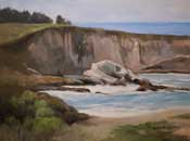 Montana De Oro Cliffs oil painting