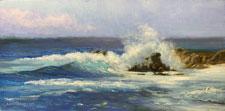 Monterey Splash seascape oil painting 17 mile drive
