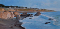 Moonstone Beach Memories - Cambria oil painting art for sale by Karen Winters