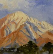 Mt. Tom Bishop Sierra Peak landscape mountain oil painting for sale