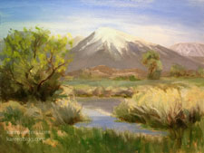 Mt. Tom Springtime Eastern Sierra Landscape oil painting Owens Valley