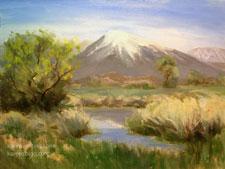 Mt. Tom Springtime Eastern Sierra Landscape oil painting Owens Valley