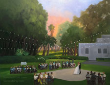 Santa Fe Springs Clarke Estate live event wedding painting Karen Winters