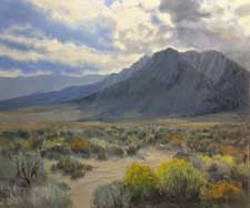 November Bloom - Lone Pine - Eastern Sierra California oil painting impressionist art