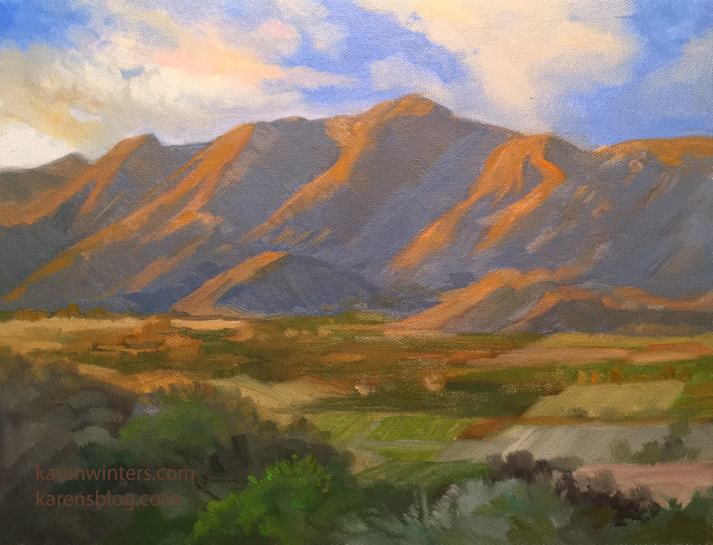 Karen winters california impressionist oil paintings for Oil painting scenery