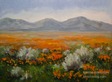 Lancaster Poppy California Impressionist Landscape painting