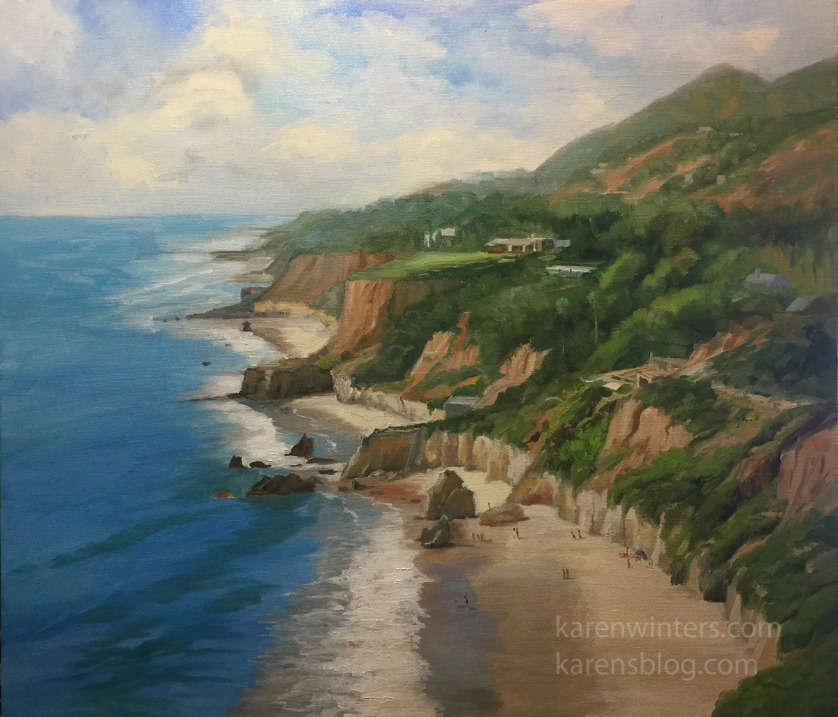 Oil And Watercolor Paintings Of Malibu