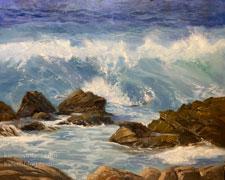 Pacific Rush 17 mile drive ocean waves crashing breakers