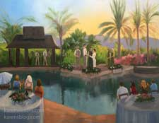 Palm Springs Rancho Mirage live event wedding painting Karen Winters